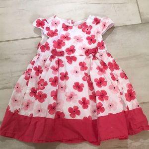 Toddler girl pink poppy sundress 2T